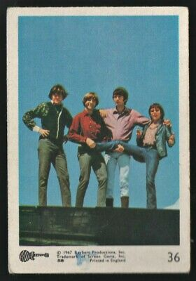 MONKEES 1967 Rayberts A&BC Gum - Colour Trading Card no.36