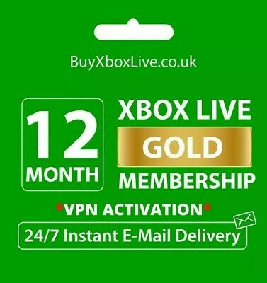 12   1 Month Xbox Gold Membership Brasil for Xbox One/360 with 1h dispatch time