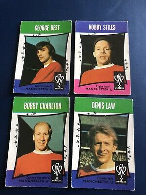 A&BC GUM Manchester United Footballers x 4 Black & White Back Cards