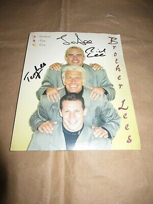 collectable Brother Lees signed photo