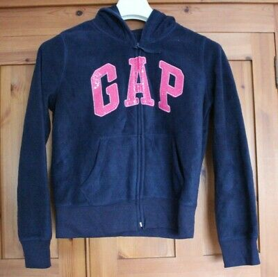 Girls Navy Fleece Gap Zipped Hoodie - Age 13 XL - Brand New