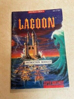SUPER Nintendo Instruction booklet:   (   LAGOON   )