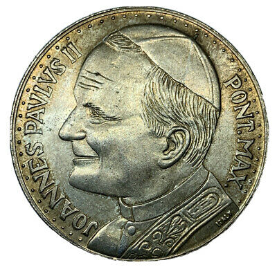 Pope Joannes Pavlvs II  Coin Medal Token Italy Holy Vatican silver