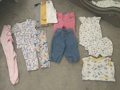 Baby Girls Bundle 6-9 Months & 9-12 Months Next Tu M&S 12 Items