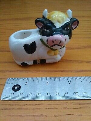 Happy Cow Candle Holder. Ceramic.