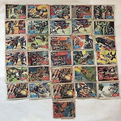 Vintage 1966 Batman Trading Cards National Periodical Publications Lot Of 31 #2