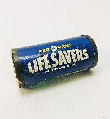 Vintage PEP O MINT Lifesavers Stacking Puzzle Candy in Collectible Tin Complete
