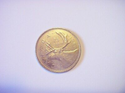 1983 Canada QUARTER Canadian 25 Cent coin circulated free domestic shipping