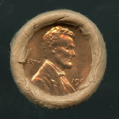 1960 D Lincoln  Cent OBW Original Bank Wrap Uncirculated Roll #50