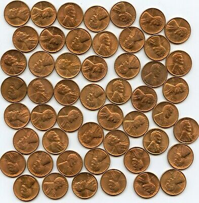 1944 S Lincoln Wheat Cent Uncirculated Roll #50
