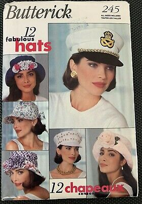 Butterick 245 Hats Fabulous Visor Accessories Wide Brim One Size Uncut