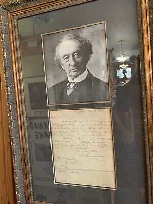 Sir John A MacDonald Hand Written Letter Signed 1848, 1st Prime Minister Canada!