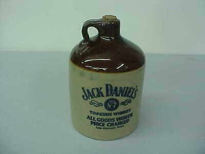 """Vintage Jack Daniel's Old No. 7 Stoneware Jug """"All Goods Worth Price Charged"""""""