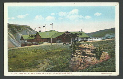Haynes Yellowstone National Park Mammoth Camp Main Building Postcard 23306