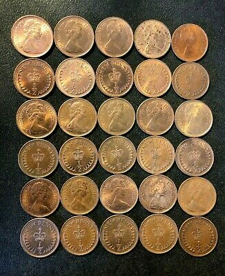 Vintage Great Britain Coin Lot - 1/2 PENCE - Rare Type - HIGH GRADE COINS - #M27