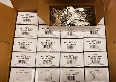 1000 Ilco Kwikset KW1-NP-Bitted & Rung Keys-Cut Blanks-Code