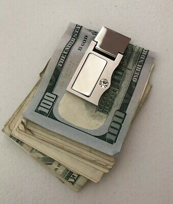 Stainless Steel Nautical Anchor /& Skull Engraved Money Clip Credit Card Holder