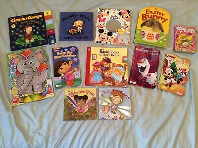 Lot of 12 Board Books for Children/Toddler/Baby/Daycare