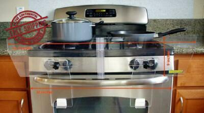 Stove Guard Tilted Shield Adjustable For Free Standing Gas Electric Stoves