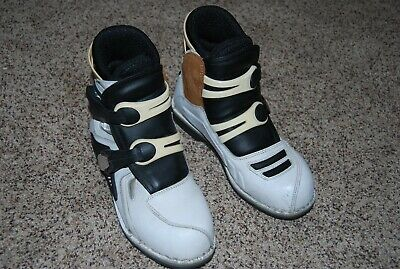 ICON Motorhead BOOTS~ Motorcycle, White Leather, Men's Size 9~ GUC!  2005
