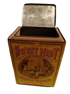 Vintage Sweet Mist Chewing Tobacco Advertising Tin - Beautiful!