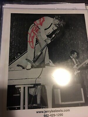 Jerry Lee Lewis 'The Killer'' Pioneer Rock And Roll Autograph Signed 8x10 LOA