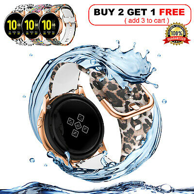 For Samsung Galaxy Watch Active 2 40/42/44mm Soft Silicone Bracelet Strap Band