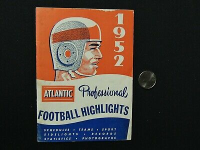 """1952 ATLANTIC OIL CO - Booklet - """"PROFESSIONAL FOOTBALL HIGHLIGHTS"""""""
