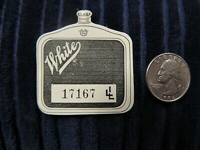 Early (1920s?)  WHITE MOTOR CO Auto Show CELLULOID PIN