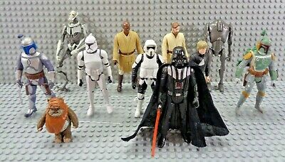 2013-2016 Hasbro Star Wars Action Figure Lot of 11 Boba Fett Darth Vader Ewok