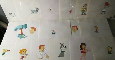 THE JETSONS animation art Collection LOT of 17 cels Lot GEORGE+Elroy+ASTRO+Jane+