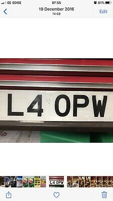 private number plate L4 OPW ON RETENTION