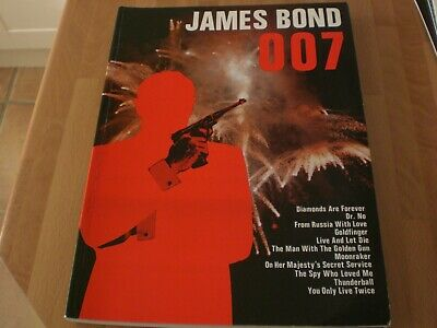 James Bond 007 Piano Sheet Music Book 15 film themes from Dr. No to Moonraker