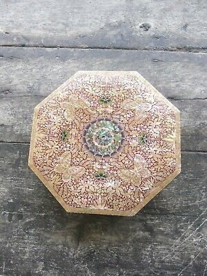 Antique Chinese  Rare  Lacquered Mother Of Pearl Box