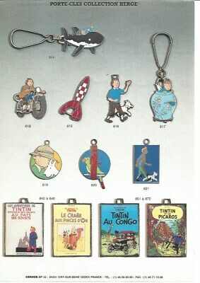 Hergé-Tintin- Merchandising- catalogue Pin's , porte-clés et badges-CORNER