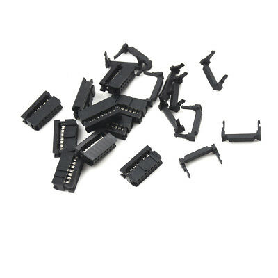 10Pcs 14Pin  2.54 Pitch IDC FC-14 Female JTAG Socket ISP Connector Flat Cable RA