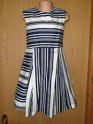 Girls Next Blue Stripped Dress Sz 7
