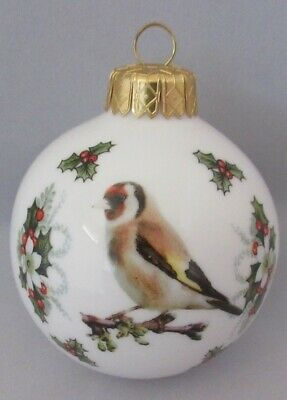 Goldfinch china xmas Bauble