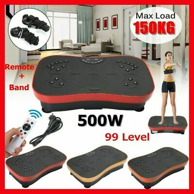 Fitness Vibration Machine Exercise Trainer Plate Platform With Resistance Bands