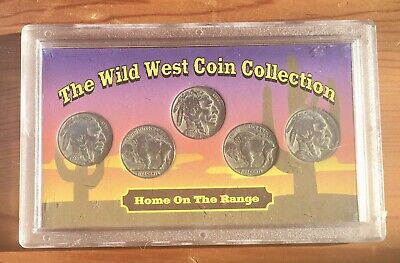 1935-1937 Wild Wild West Coin Collection. Lot Of Five