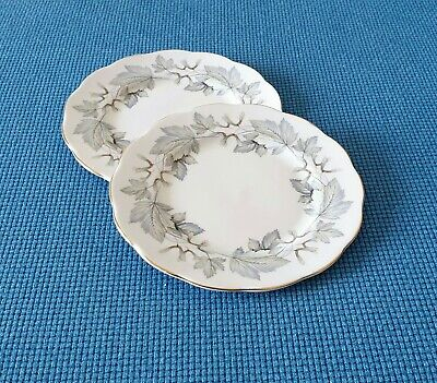 """Royal Albert *Silver Maple* Two 6.3"""" Side Plates  #Excellent Used Condition#"""