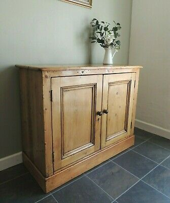 Lovely Antique Victorian Solid Pine Cupboard Sideboard Rustic - RESERVED