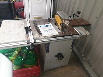 """Charnwood W619 Cast Iron Table Saw 8""""  Used."""