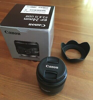 Canon EF 24mm F/2.8 IS USM Lens with Lens hood