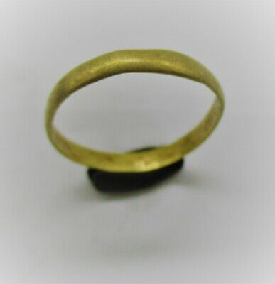 Detector Finds Ancient Roman Gold Ring Band High Carat Gold