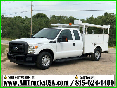 2011 Ford F250 6.2 Gas & Cng Ext Cab 8' Steel Weld Bed Service Utility Truck