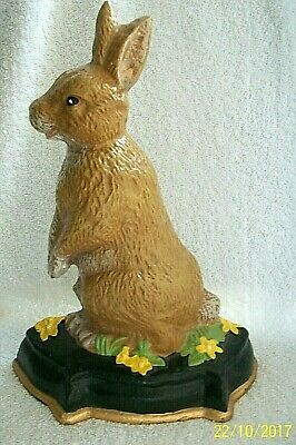 Doorstop. Rabbit.Cast Iron. Vintage.Victorian Style. Hand Painted, Un-used