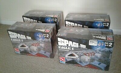 Set of Four (4) AMT ERTL Space: 1999 Eagle 1 Transporter Model Kits (30066 10-D)