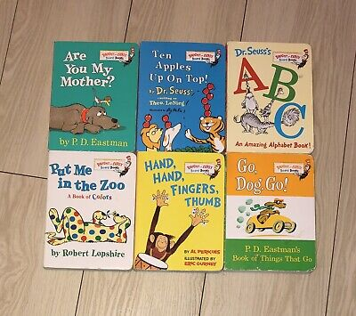 Dr Seuss Bright and Early Board Books Lot 6 Beginner Reading Children Small Size