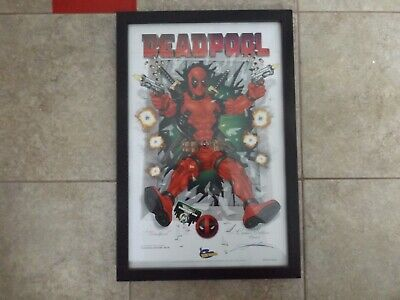 DEADPOOL Lithograph 2016 FAN EXPO, HAND SIGNED by Kurt Lehner, Limited Edition